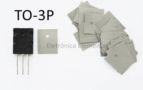 thermal pad to3p 2sc5200 isolador silicone 20 unidades