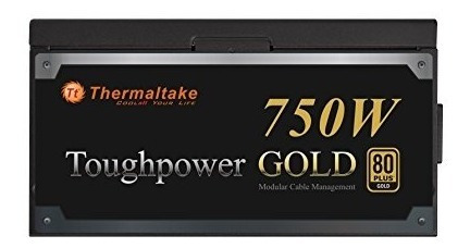 thermaltake toughpower 750w 80 plus gold fuente de alimentac