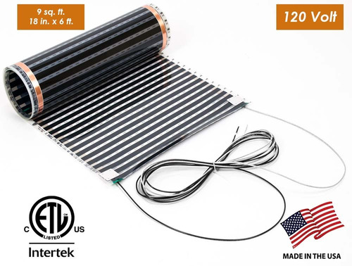 thermofilm 18 in. x 6 ft. (9 sq. ft.), 120 volt electric flo