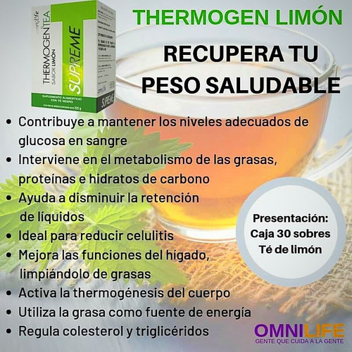 thermogen tea limon