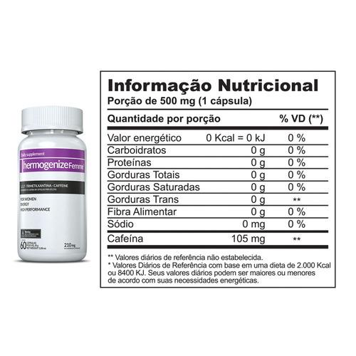 thermogenize femme - inove nutrition - 60 capsulas