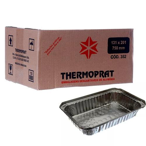 thermoprat 750ml marmitex retangular alumínio c/100