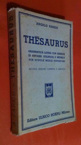 thesaurus/angelo paredi/ulrico hoepli milano/1949
