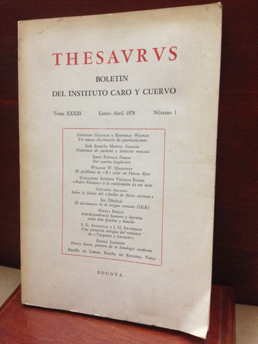 thesavrvs boletin del instituto caro y cuervo tomo xxxiii