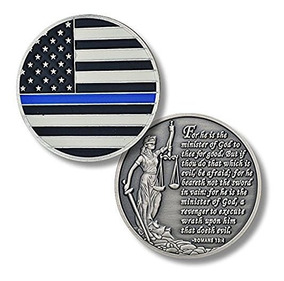 NeeJee Thin Blue Line American Flag Sticker Honoring Police Law Enforcement 2.5x4.5 US Flag Car Decal ,Pack of 2