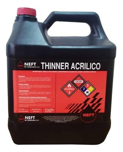thinner neft acrílico y laca thiner tiner galón