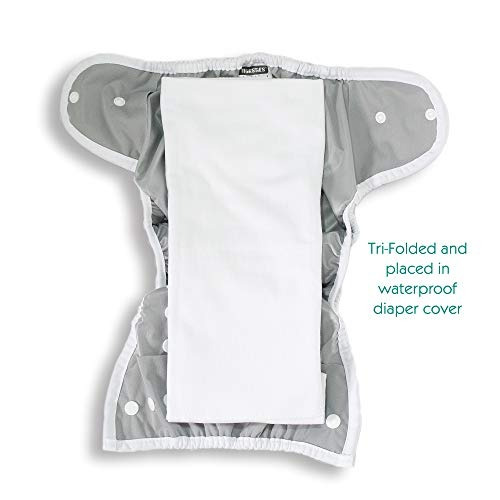 thirsties duo hemp /organic cotton cloth prefold, size two