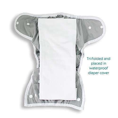 thirsties duo hemp /tela de algodón orgánico prefold, tamaño
