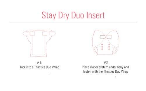 thirsties duo wrap tela pañal cubierta aleta tamaño 1 broche