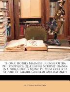 thom] hobbes malmesburiensis, william nassau molesworth