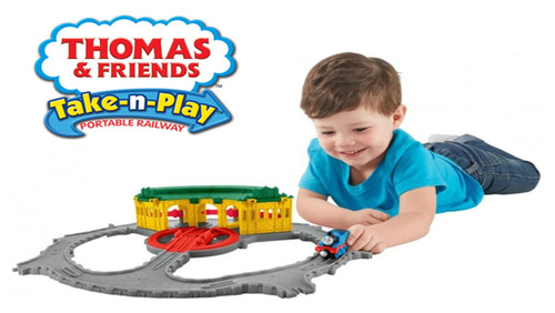 thomas and friends cocheras de tidmouth take-n-play