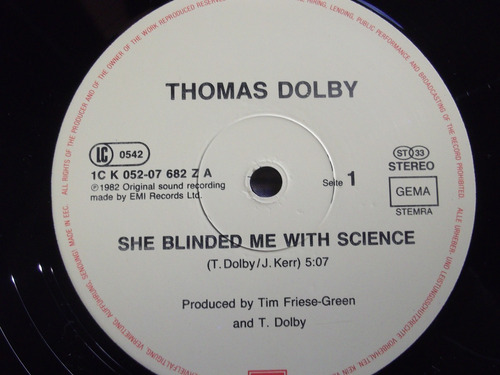 thomas dolby- she blinded me with science -extended version