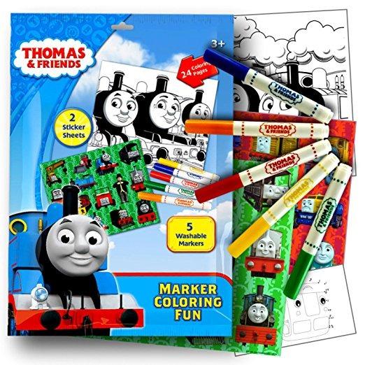 Thomas El Tren Pegatinas Para Colorear Actividad Conjunto Co