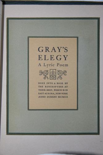 thomas grey elegy