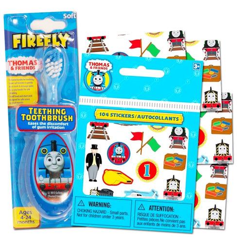 thomas the train cepillo de dientes para bebé con pegatin...