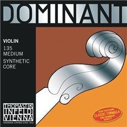 thomastik dominant 4/4 violin string set - medium gauge - s