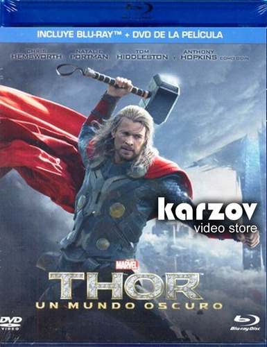 thor 2 dos un mundo oscuro combo pelicula blu-ray + dvd