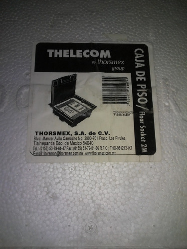 thorsman caja de piso dos módulos universales (socket m2)