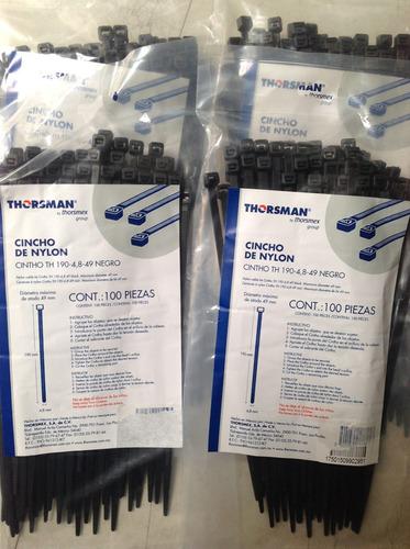 thorsman cinchos plástico calidad  nylon 190-4.8 49 negros
