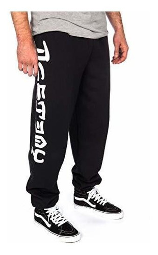 White Sweatpants Thrasher Magazine Skate and Destroy Black X-Large