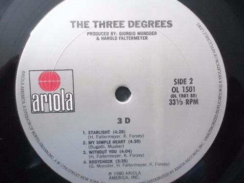 three degrees / three d vinyl lp acetato