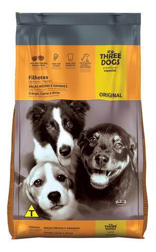 three dogs cachorro raza mediana y grande 15+2k con regalo