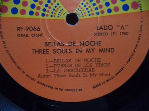 three souls in my mind bellas de noche 1980 lp rock mexicano