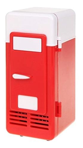 threeh new mini red usb refrigerador bebidas