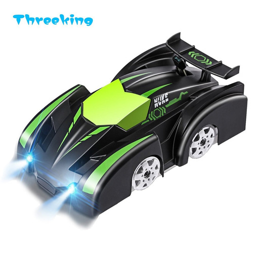 threeking rc car climbing wall coche escalador 2,4 ghz