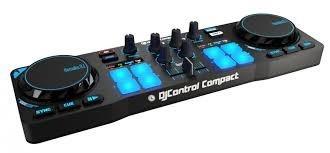 thrustmaster consola dj controlador hercules control compact