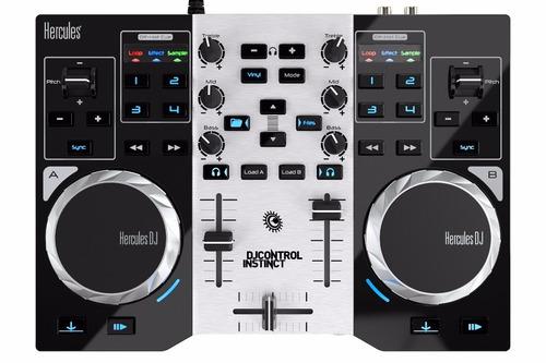 thrustmaster controlador consola dj hercules instinct party