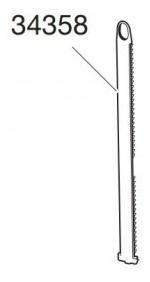 thule 34358 tira de fixação do 591 - 1 unidade