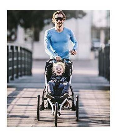 thule glide 2.0 performance jogging stroller (negro con marc