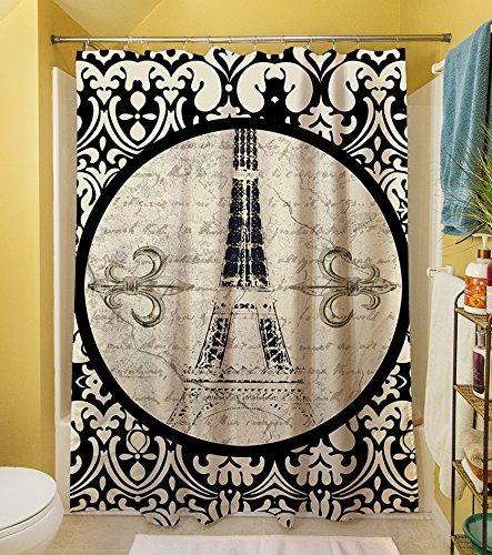 Thumbprintz Cortina De Ducha Paris Del Damasco Torre Eiffel