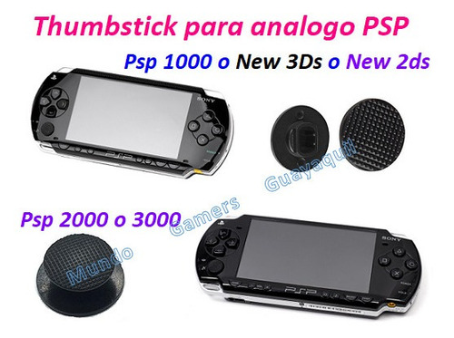 thumbstick para analogo psp 1000 2000 o 3000 new 3ds 2ds
