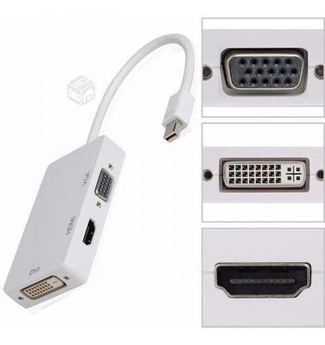 thunderbolt mini dp display port a hdmi, vga y dvi