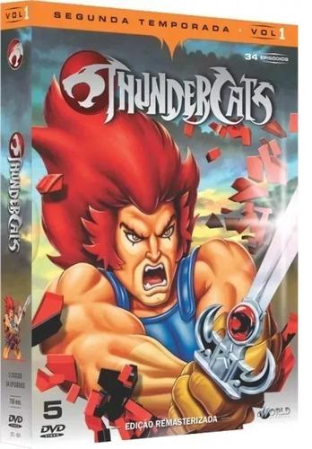thundercats 2ª temporada volume 1 box dvd original lacrado
