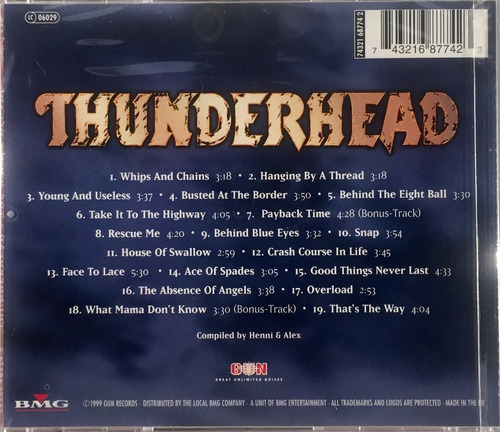thunderhead - the whole decade - cd importado lacrado