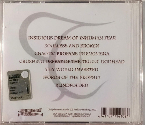 thyrane - the spirit of rebellion - cd importado finlandia