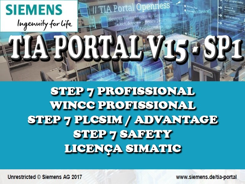 Tia Portal V15 1 Sp1 Step7 Prof/ Wincc Prof/ Plcsim/ Safety