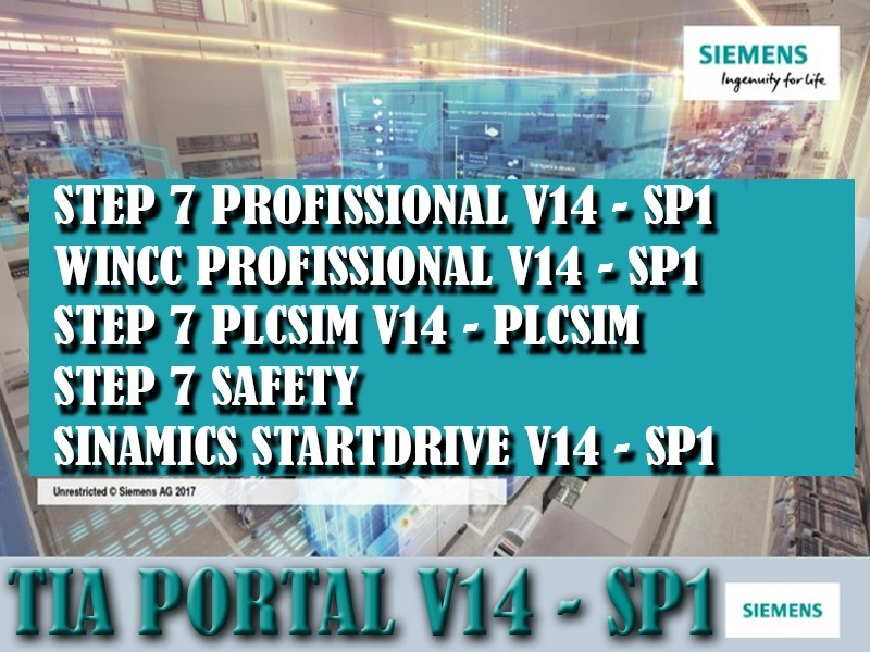 Tia V14 Sp1 Step7 / Wincc Prof / Stardrive / Plcsim / Safety