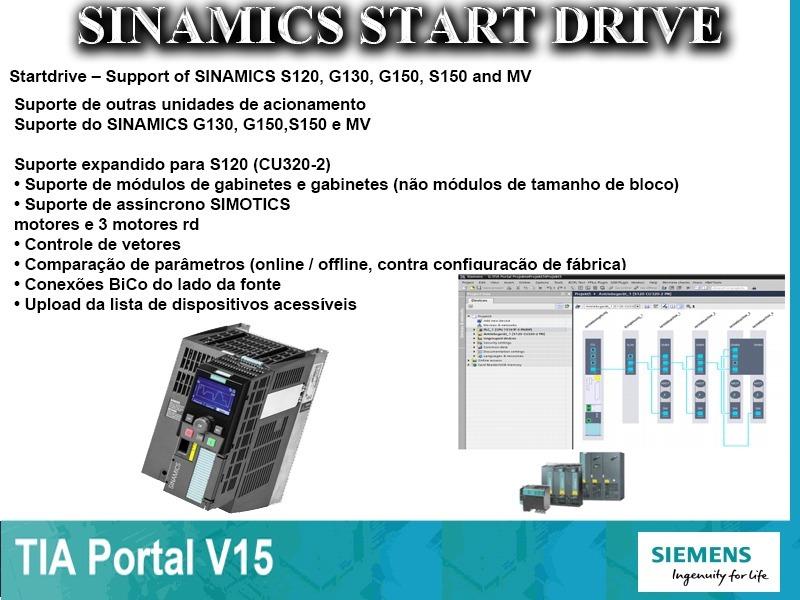 Tia V15 Step7 Prof  / Wincc Prof  / Plcsim Adv / Start Drive