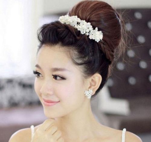tiara arranjo de cabelo noiva 15 anos formatura festas linda