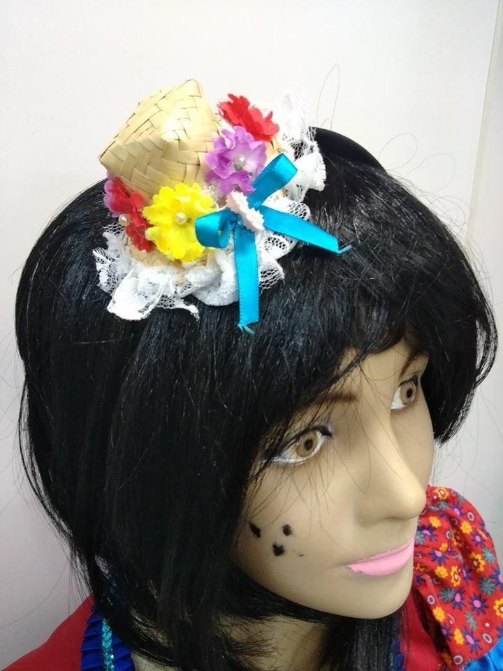 61022de68d9b9 tiara caipira chapéu palha festa junina fantasia são joão. Carregando zoom.
