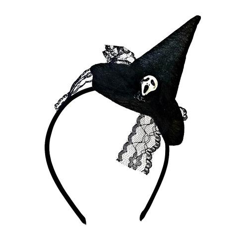 tiara chapéu bruxa pânico halloween pentefino