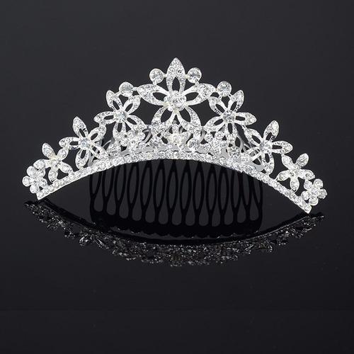 tiara corona novia quinceañera comunión cabello adorno