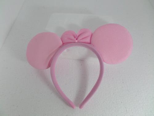 tiara da minnie rosa claro-com pelucia