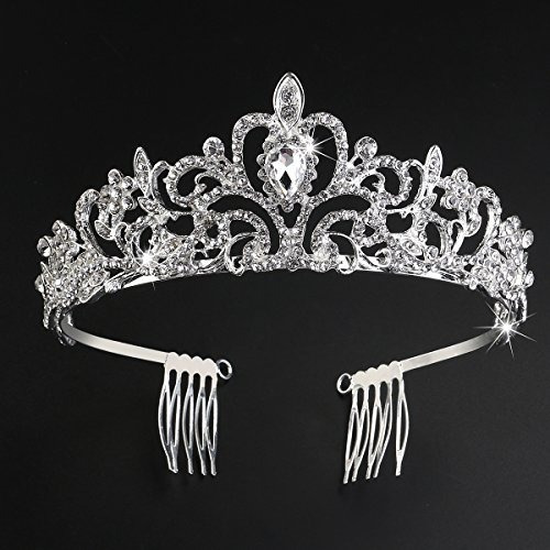 tiara de princesa tiara con peine brillante diamantes de imi
