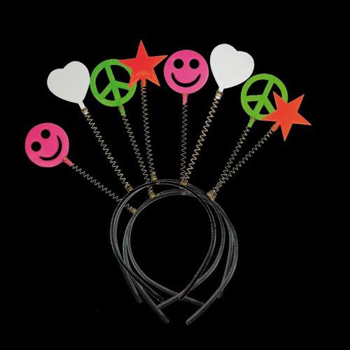 tiara divertida símbolos para festas - kit 10 un