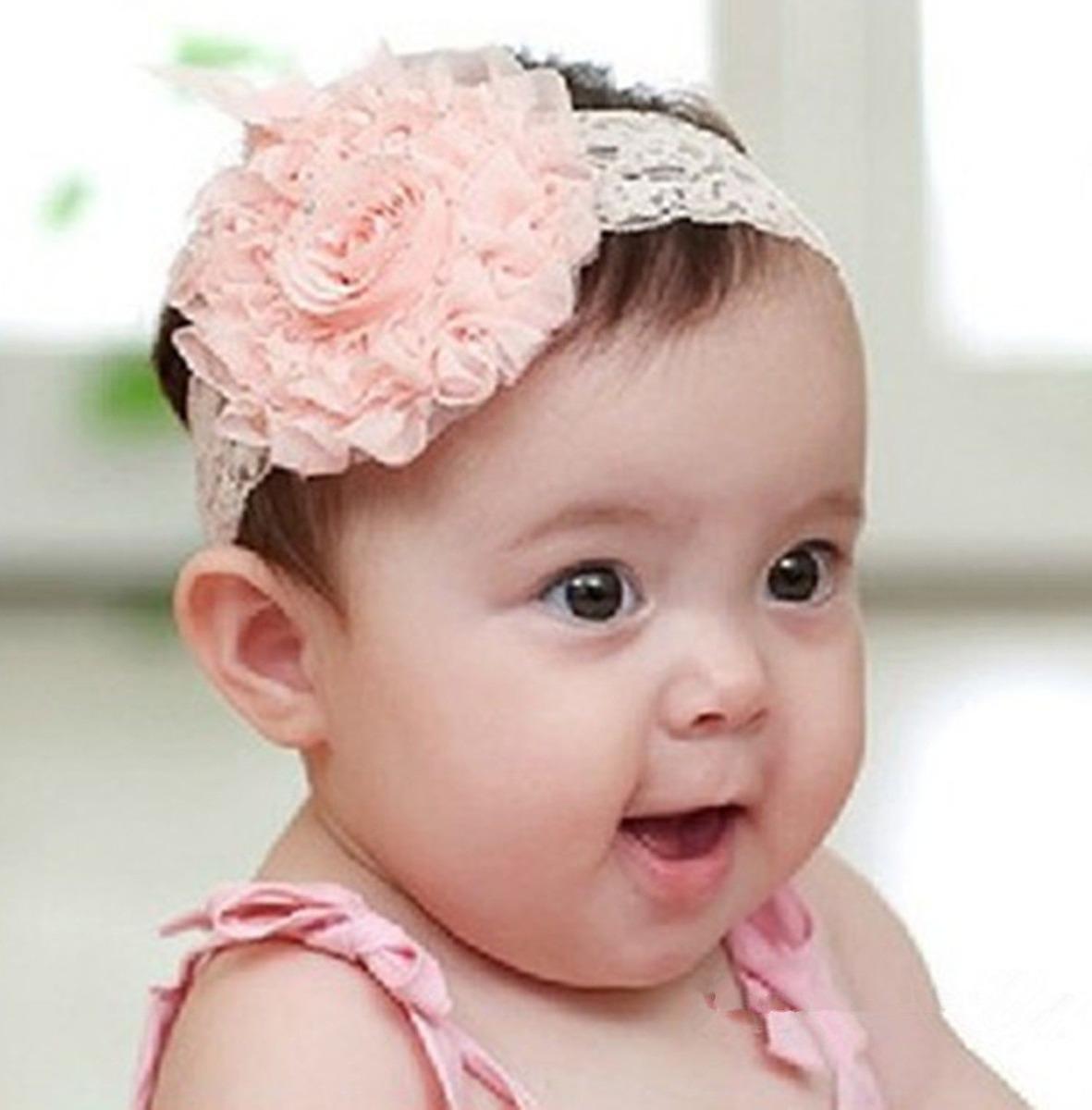 Tiara faixa de cabelo flor c renda beb e menina r 19 for Modelos de diademas